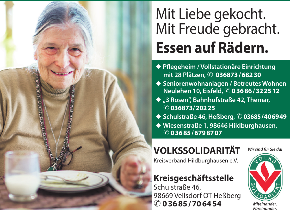 Volkssolidarität Kreisverband Hildburghausen e.V. - Kreisgeschäftsstelle