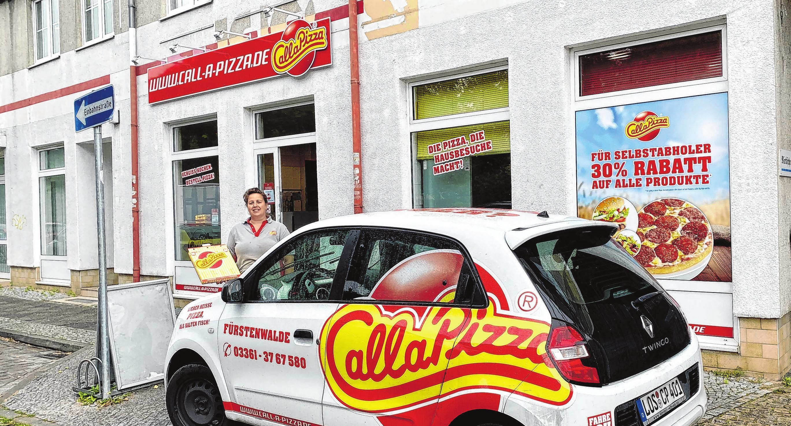 Die Call a Pizza-Filiale in der Fürstenwalder Fischerstraße.