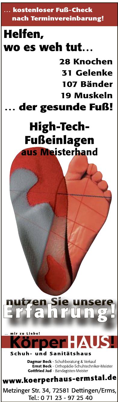 Körperhaus Ermstal / Schuhhaus Beck Dettingen