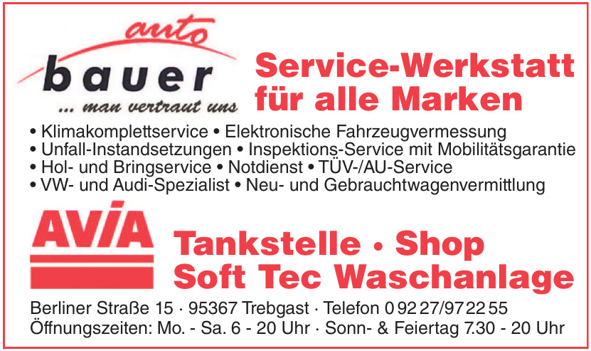 Auto Bauer Service-Werkstatt