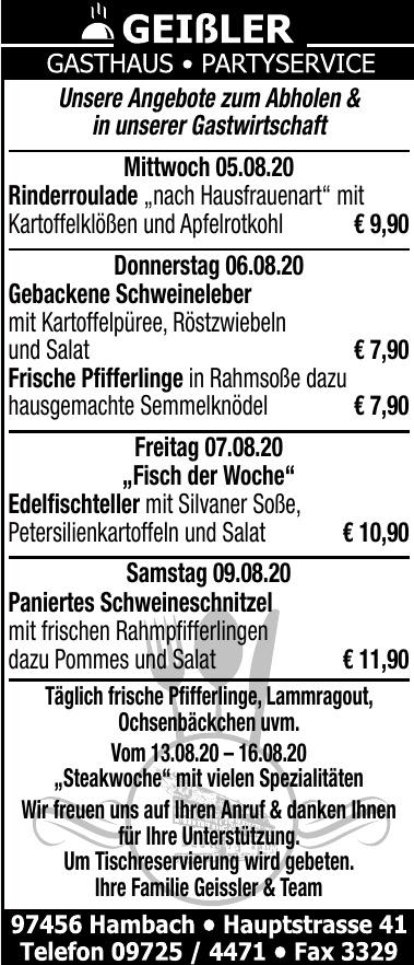 Geißler Gasthaus - Partyservice