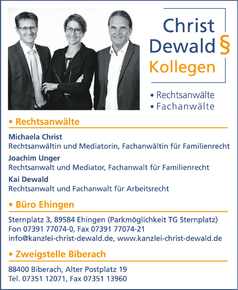 Christ Dewald § Kollegen