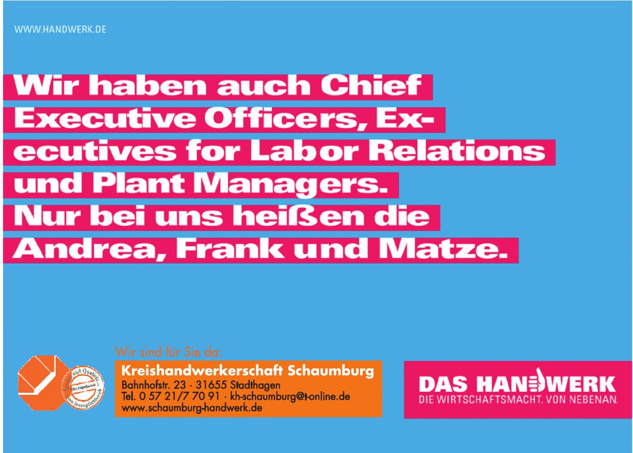 Kreishandwerkerschaft Schaumburg