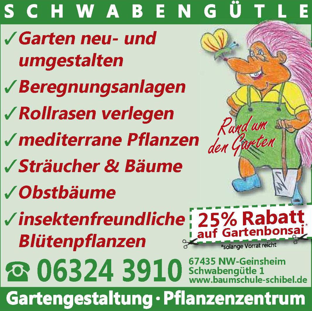 Schwabengütle Gartengestaltung · Pflanzenzentrum