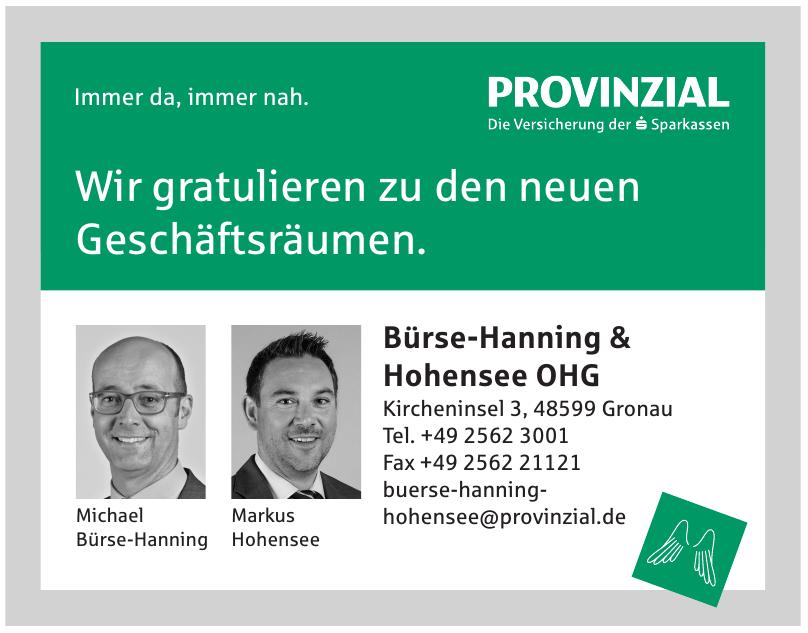 Provinzial Versicherung - Bürse-Hanning & Hohensee OHG