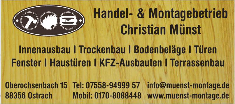 Christian Münst Handel- und Montagebetrieb