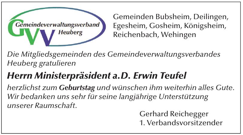 Gemeindeverwaltungsverbandes Heuberg