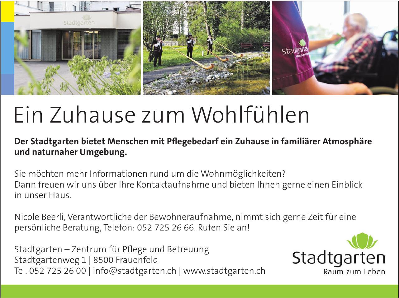 Stadtgarten - Zentrum für Pflege und Betreuung