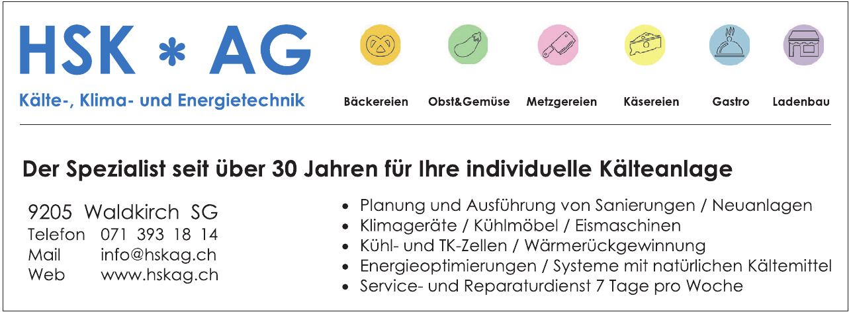 HSK AG Kälte-, Klima- und Energietechnik