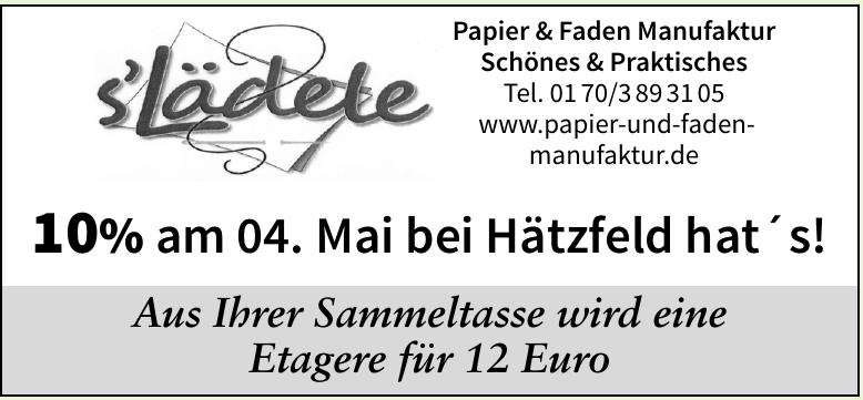 Papier und Faden  Manufaktur