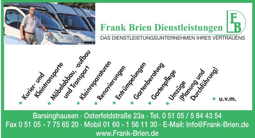 Frank Brien Dienstleistungen