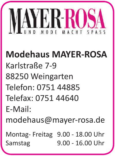 Modehaus MAYER-ROSA