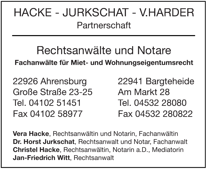 Hacke - Jurkschat - V.Harder