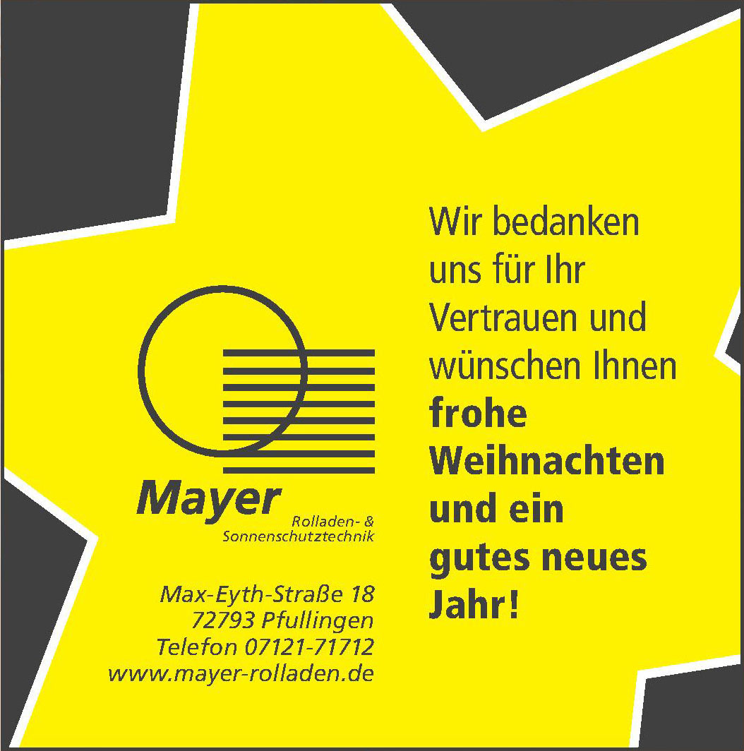 Mayer Rolladen- & Sonnenschutztechnik