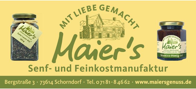 Maier's Senf-und Feinkostmanufaktur