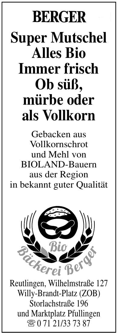 Bio Bäckerei Berger
