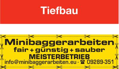 Minibaggerarbeiten Meisterbetrieb