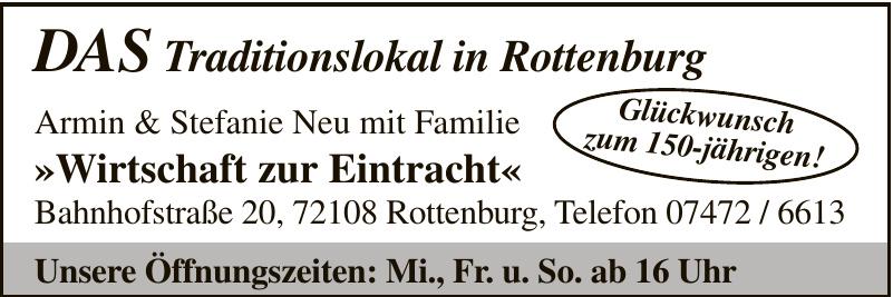 DAS Traditionslokal in Rottenburg