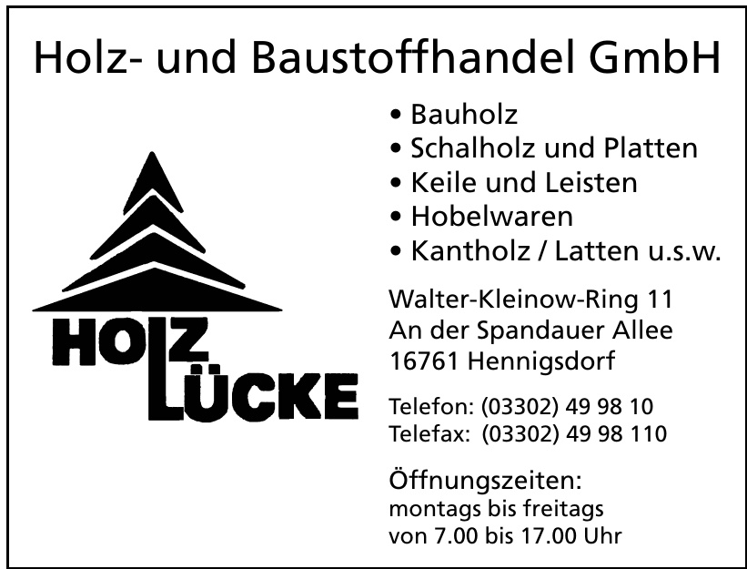 Holz Lücke Holz- und Baustoffhandel GmbH