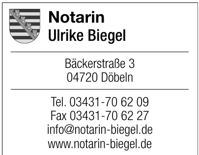 Notarin Ulrike Biegel
