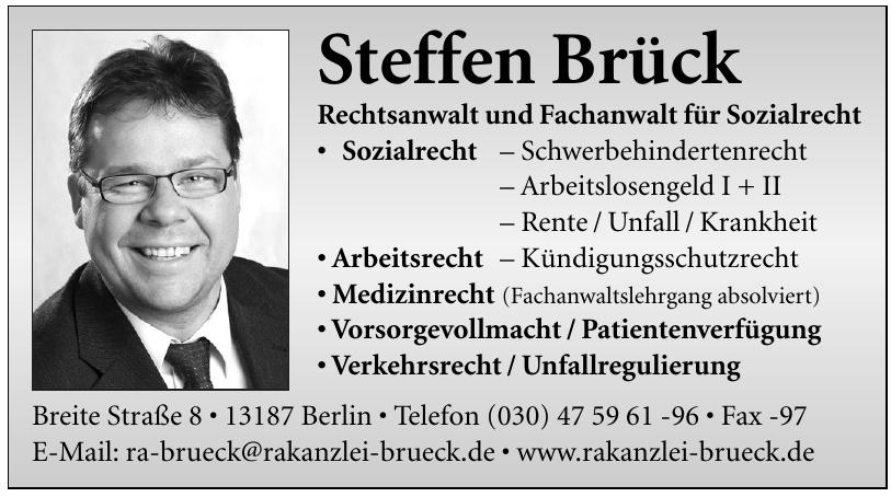 Steffen Brück - Rechtsanwalt und Fachanwalt für Sozialrecht