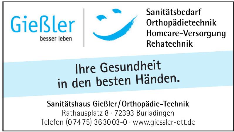 Sanitätshaus Gießler / Orthopädie-Technik