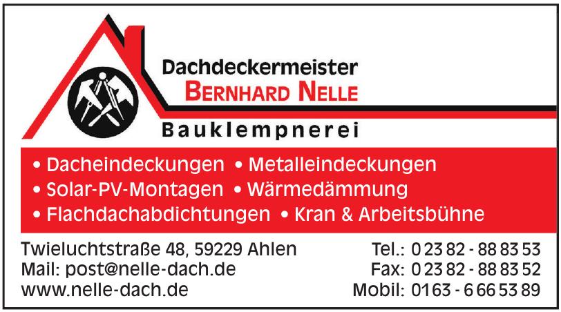 Dachdeckermeister Bernhard Nelle