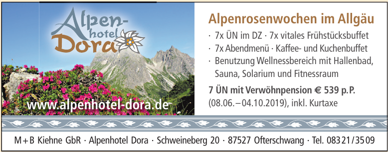 M+B Kiehne GbR, Alpenhotel Dora