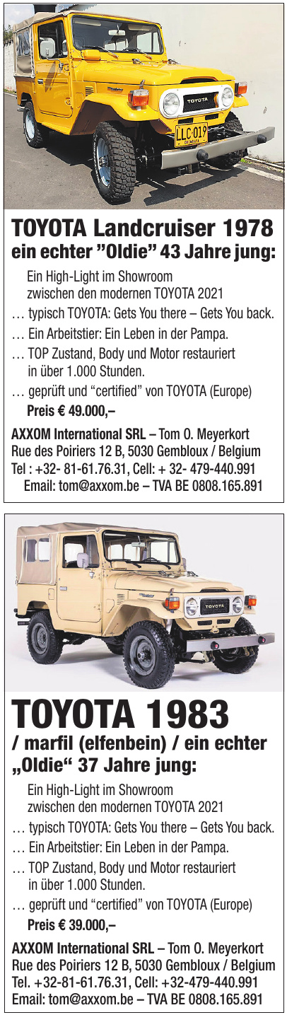 AXXOM International SRL – Tom O. Meyerkort