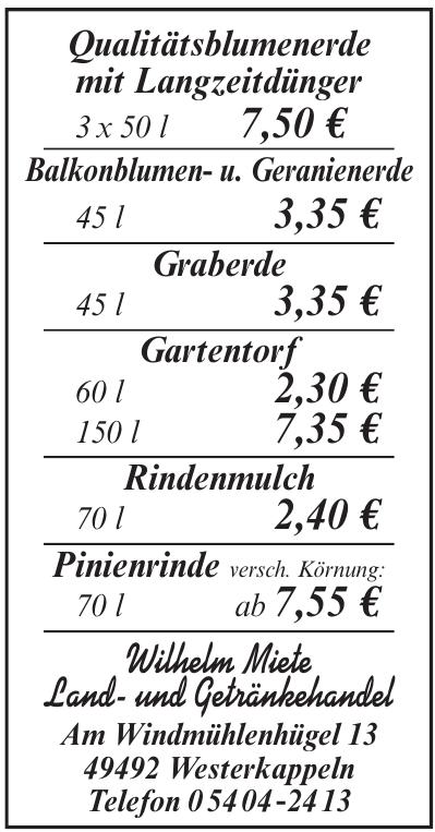 Wilhelm Miete Land- und Getränkehandel