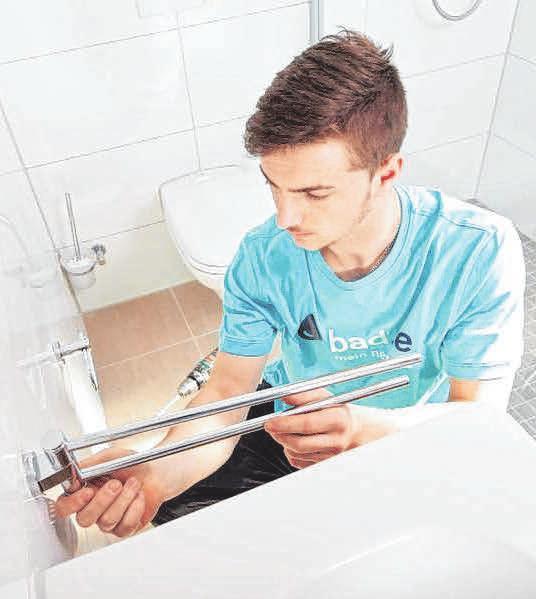 Eingespielte Handwerkerteams sorgen für eine schnelle und hochwertige Badsanierung.