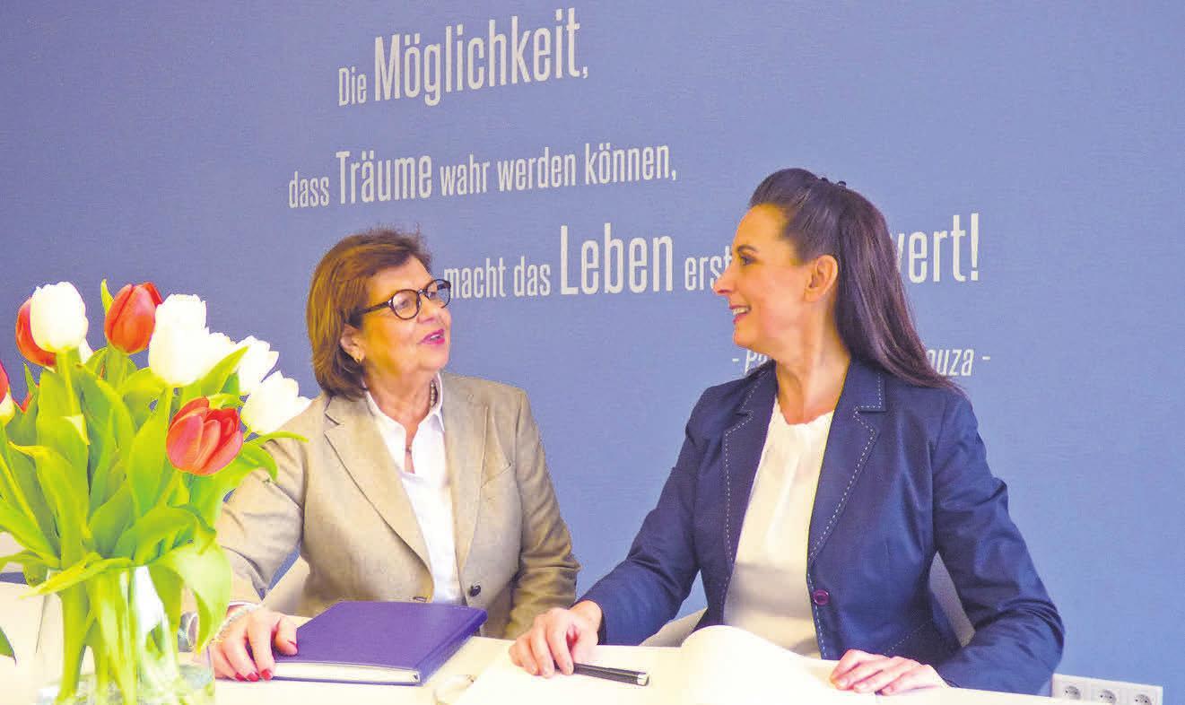 Eva Hirschfeld (links) und Thea Simonvan de Ven sind die neuen Immobilienexpertinnen in Kirchrode.