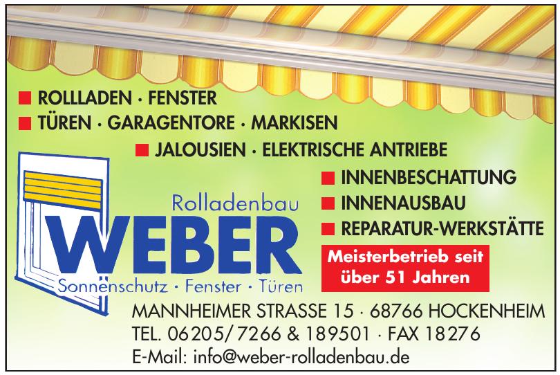 Roladenbau Weber