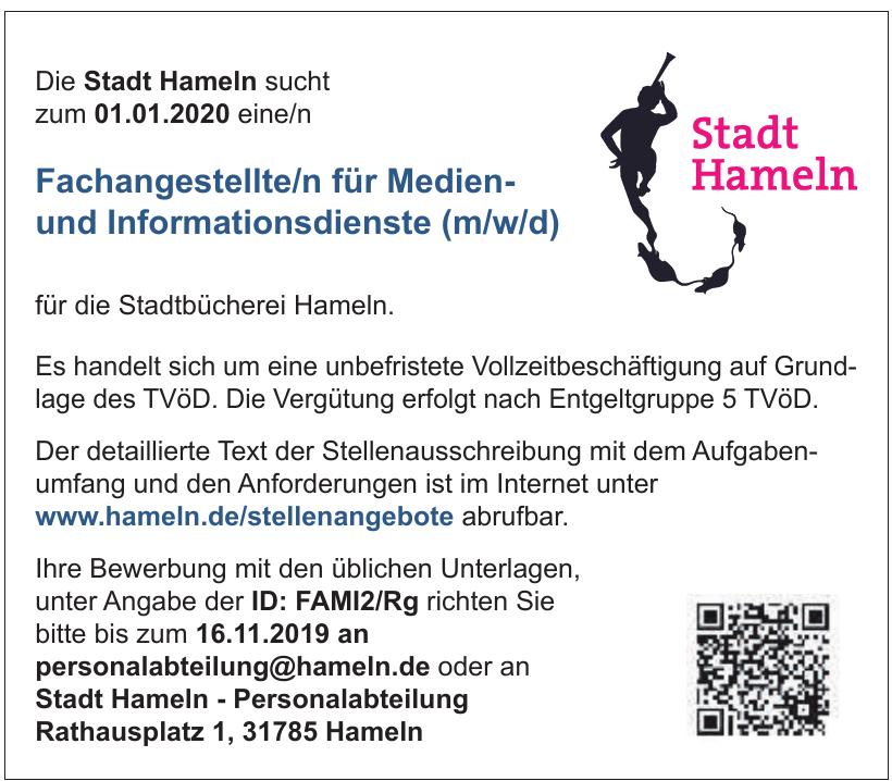 Stadt Hameln - Personalabteilung
