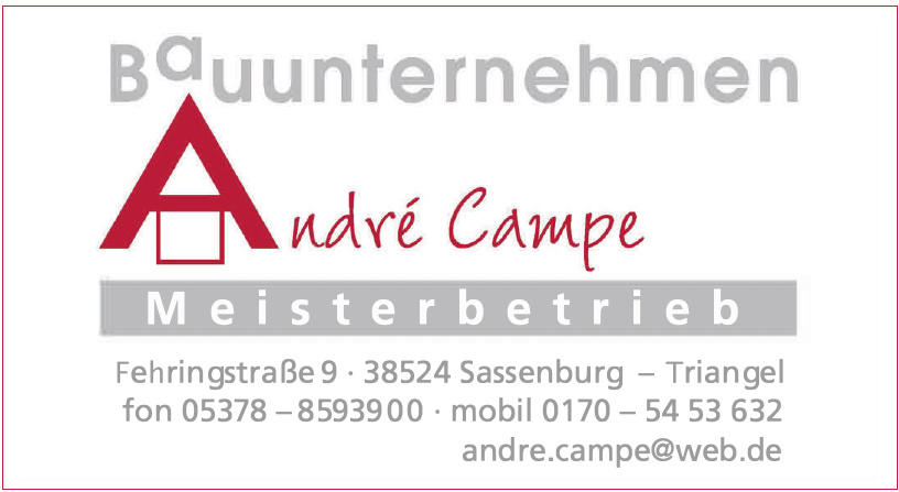 André Campe Bauunternehmen