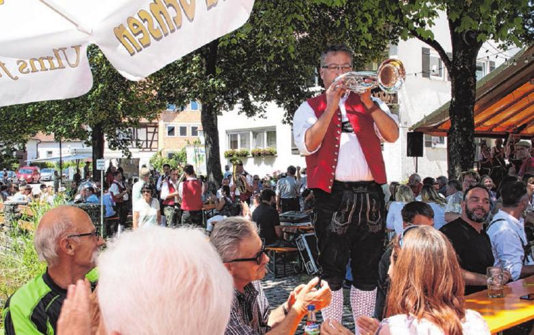 Gemütliche Atmosphäre und viel Musik bietet das Backhausfest an diesem Wochenende in Seißen. Foto: Musikverein