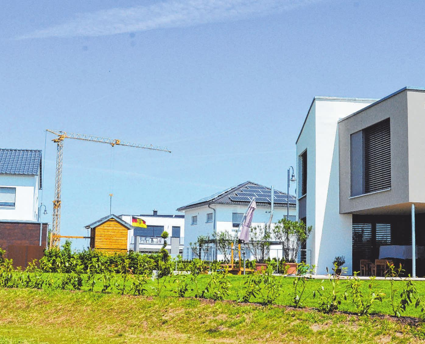Neue Baugebiete entstehen, - wie hier in Oberholzheim. FOTO: SON