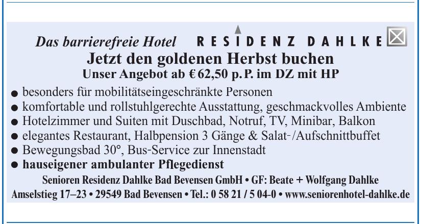 Senioren Residenz Dahlke Bad Bevesen GmbH