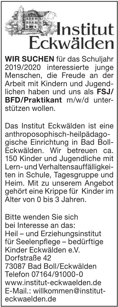 Heil- und Erziehungsinstitut Eckwälden e.V.