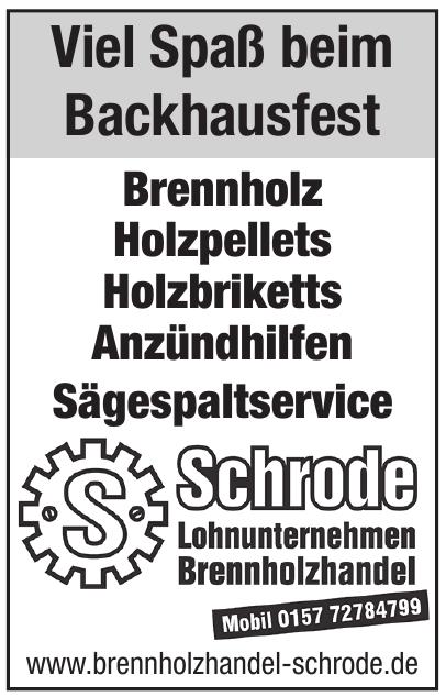 Brennholz Handel Schrode