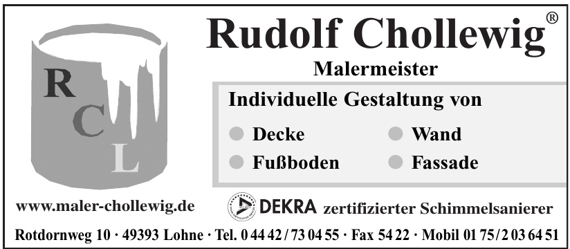 Rudolf Chollewig Malermeister
