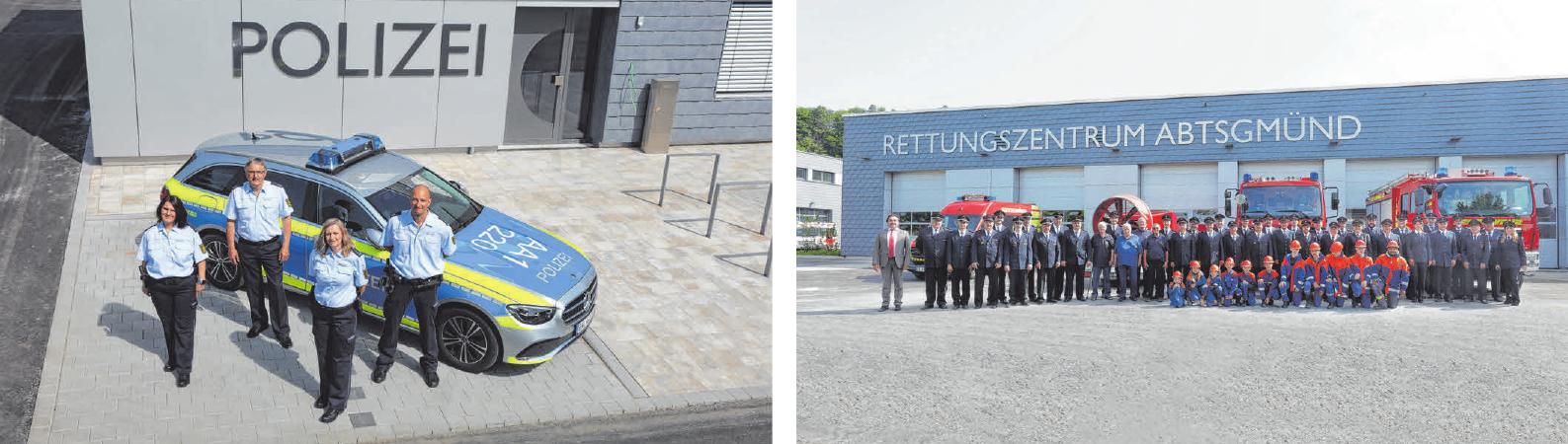 Das neue Rettungszentrum an der B19 in Abtsgmünd umfasst insgesamt 7300 Quadratmeter. FOTOS: PETER KRUPPA