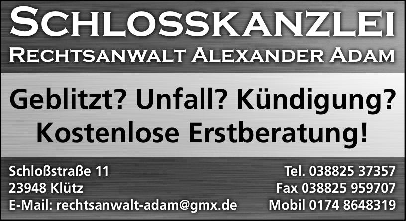 Schlossskanzlei Rechtsanwalt Alexander Adam