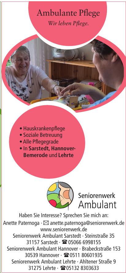 Seniorenwerk Ambulant Sarstedt