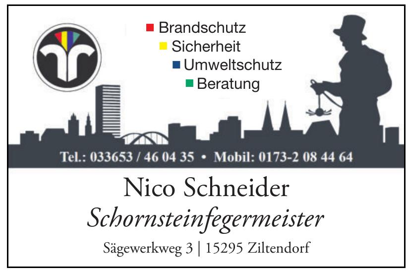 Nico Schneider Schornsteinfegermeister