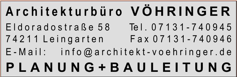 Architekturbüro Vöhringer Planung + Bauleitung