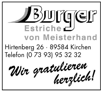 Burger Estriche von Meisterhand