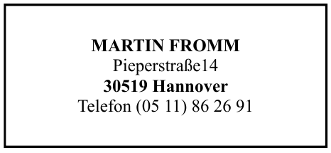 Martin Fromm