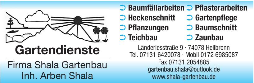 Gartendienste Firma Shala Gartenbau