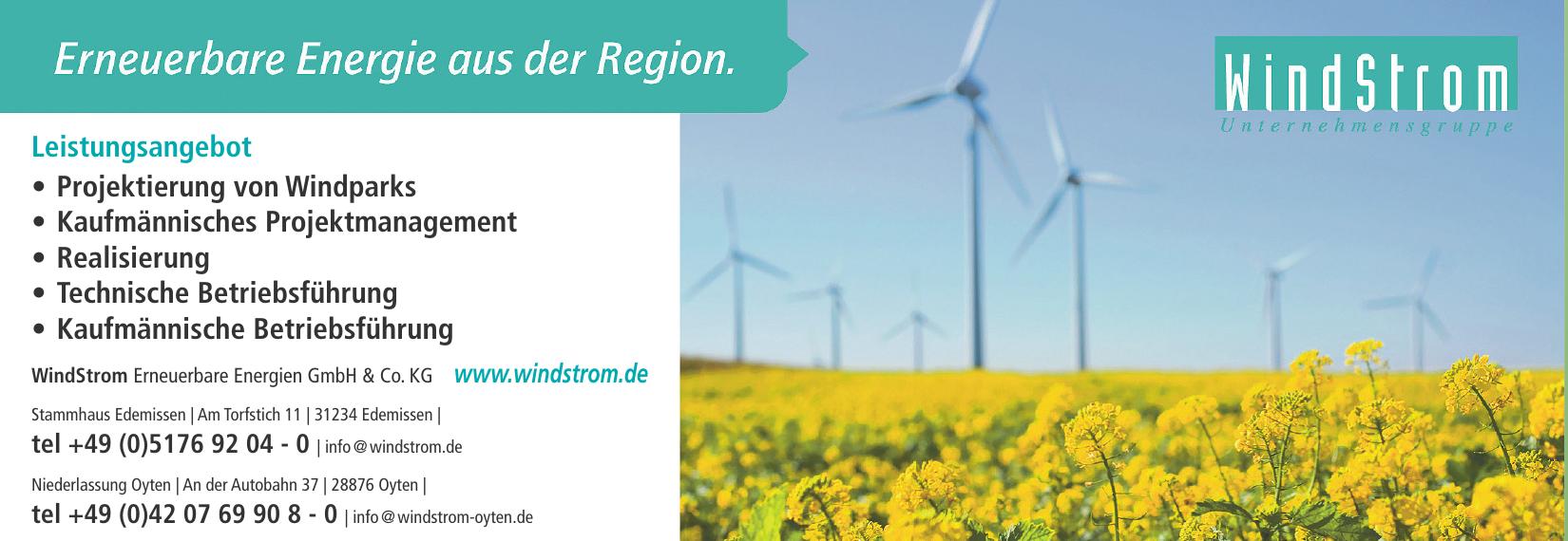 WindStrom Erneuerbare Energien GmbH & Co. KG - Stammhaus Edemissen
